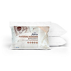 Fogarty - Natural warmth goose pillow pair