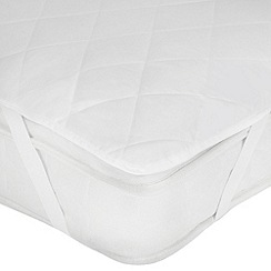 Home Collection Basics Hollowfibre Quilted Mattress Protector