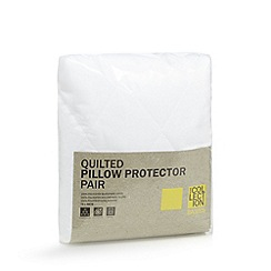 Debenhams - Hollowfibre quilted pillow protector pair