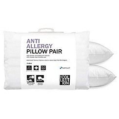 Home Collection - White 'Anti Allergy' polyester pillow pair