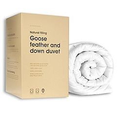 Debenhams - 4.5 tog goose feather and down natural duvet