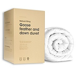 Debenhams - 13.5 tog goose feather and down natural duvet