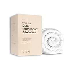 Debenhams - 4.5 tog duck feather and down natural duvet