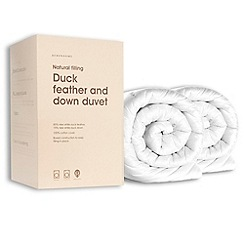 Debenhams - 13.5 tog all seasons duck feather and down natural duo duvet (4.5 + 9 tog)