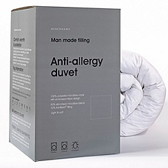 Debenhams - 4.5 tog anti-allergy microfibre synthetic duvet
