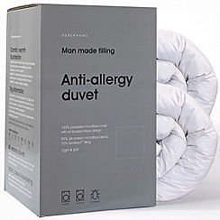 Debenhams - 13.5 tog all seasons anti-allergy microfibre synthetic duo duvet (4.5 + 9 tog)