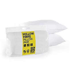Home Collection Basics - White hollowfibre pillow pair