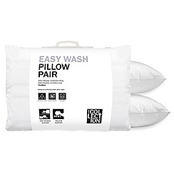 Home Collection - White 'Easy Wash' hollowfibre pillow pair