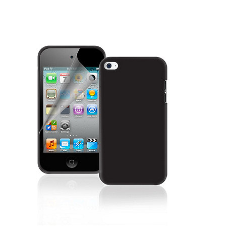 Exspect - iPod touch 4G black silicone skin EX188