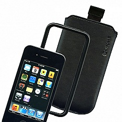 Exspect - Black iPhone 4 leather slip case and bumper