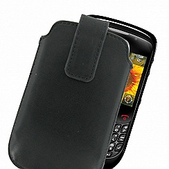 Exspect - Black leather slip case EX201 for Blackberry smartphone