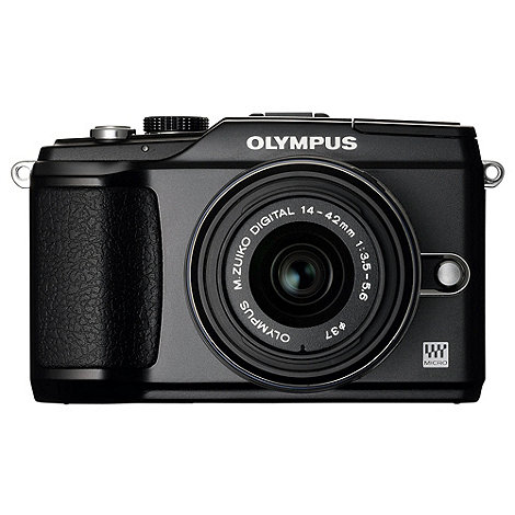 Olympus - PEN +E-PL2+ compact system camera with 14-42mm lens