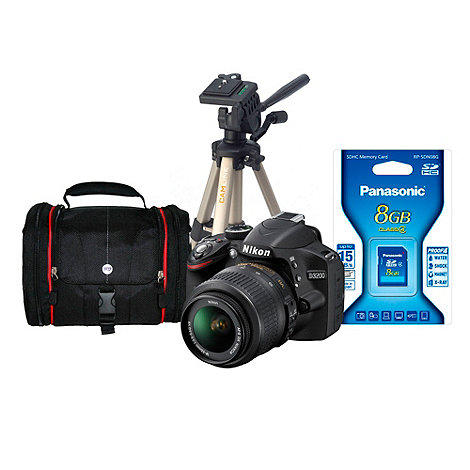 Nikon - D3200 24.2 megapixel D-SLR camera kit