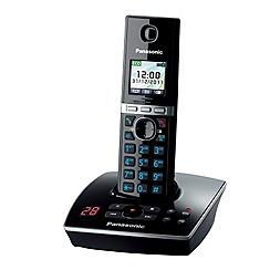 Panasonic - Black KX-TG8061EB single dect TAM telephone