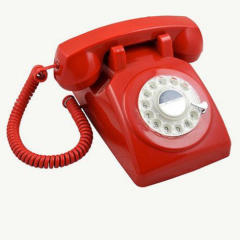 GPO - Red 746 +Rotary Retro+ telephone