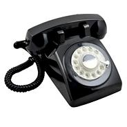 GPO black 746 'Rotary Retro' telephone