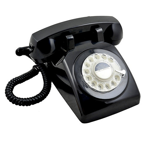 GPO - Black 746 +Rotary Retro+ telephone