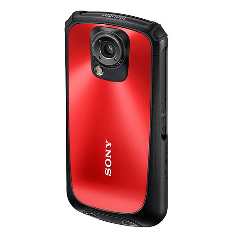 Sony - Red MHS-TS22 full HD five megapixel pocket camcorder in red