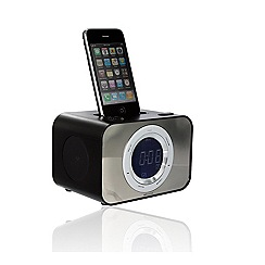KitSound - Black clock dock with ipod dock