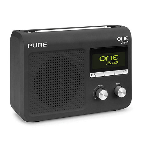 Pure - Black +One Flow+ digital internet radio