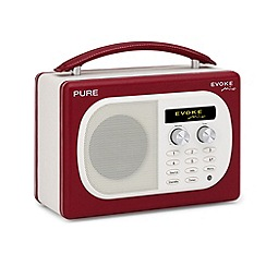 Pure - Red 'Evoke Mio' DAB digital radio