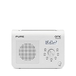 Pure - White 'One classic series II' radio VL-61682