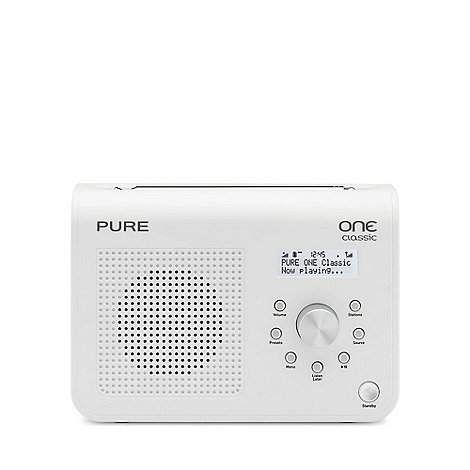 Pure - White +One classic series II+ radio VL-61682