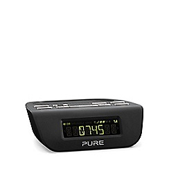 Pure - Black 'Siesta Mi Series 2 VL-6177' digital clock radio in black