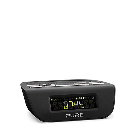 Pure - Black +Siesta Mi Series 2 VL-6177+ digital clock radio in black