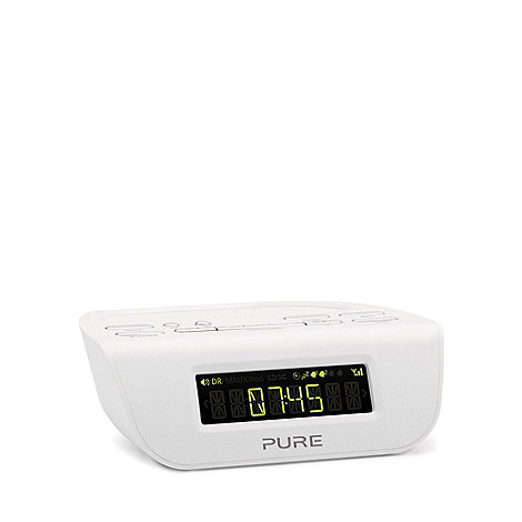 Pure - White +Siesta Mi Series 2+ digital clock radio VL-61783
