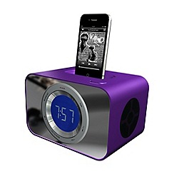 KitSound - Purple iPod clock radio dock