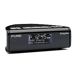 Pure - Black Siesta DAB digital clock radio VL-60907