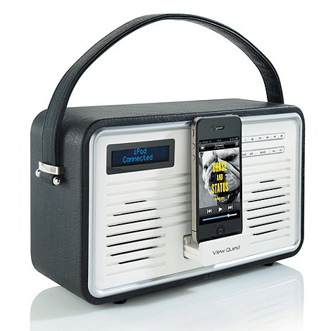 Viewquest - Black +Retro DAB Radio+ with iPod dock in black