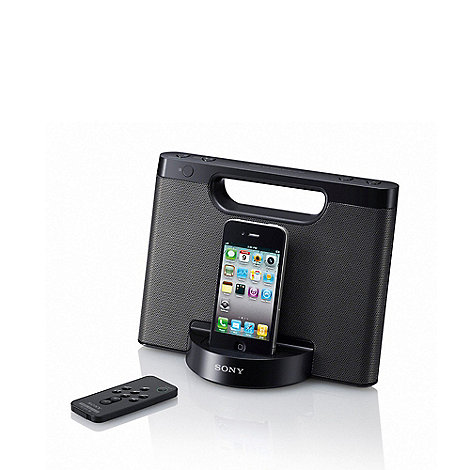 Sony - Black portable speaker dock RDP-M5IP