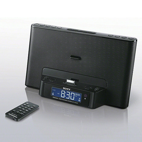 Sony - Clock radio speaker dock ICF-DS15IP