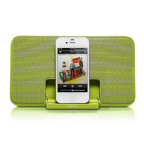 Gear 4 - Lime Green +PG492 Street Party+ iPod and iPhone speaker dock