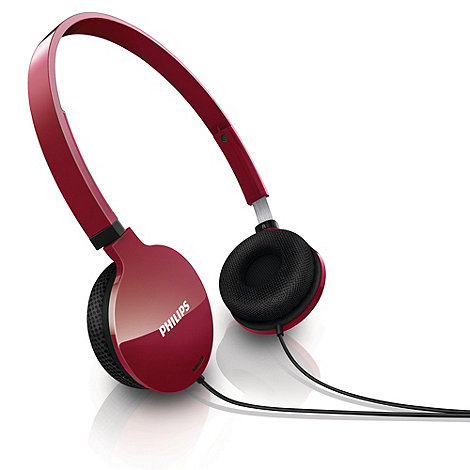 Philips - Lightweight red headphones +SHL1700/10+