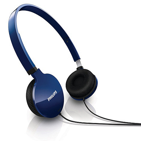 Philips - Lightweight blue headphones +SHL1700/10+