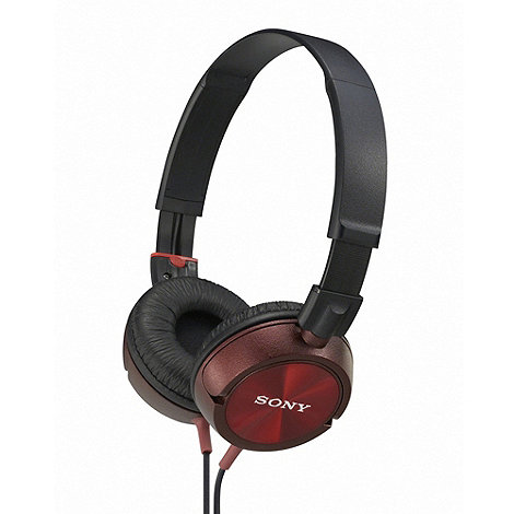 Sony - Red +MDR-ZX300R+ headphones