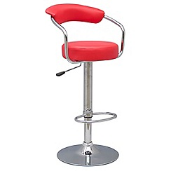 Debenhams - Red 'Meteor' gas lift bar stool