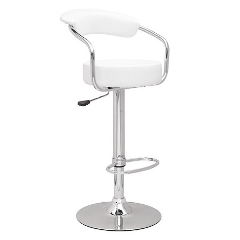 Debenhams - White +Meteor+ gas lift bar stool