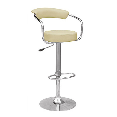 Debenhams - Cream +Meteor+ gas lift bar stool