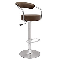 Debenhams - Chocolate brown 'Meteor' gas lift bar stool
