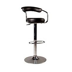 Debenhams - Black 'Meteor' gas lift bar stool