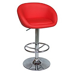 Debenhams - Red 'Plaza' gas lift bar stool
