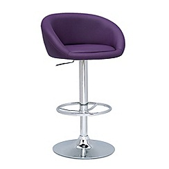 Debenhams - Purple 'Plaza' gas lift bar stool