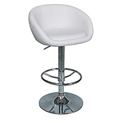 Debenhams - White 'Plaza' gas lift bar stool