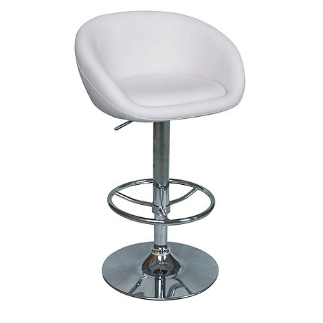 Debenhams - White +Plaza+ gas lift bar stool