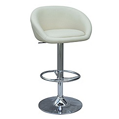 Debenhams - Cream 'Plaza' gas lift bar stool