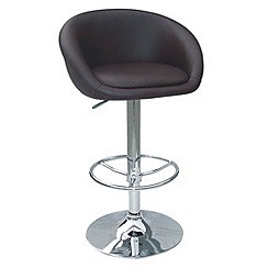 Debenhams - Chocolate brown 'Plaza' gas lift bar stool